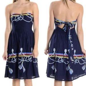 Anthropologie Wakana Koike Roped-in Nautical Dress